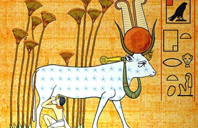 De koe. Deel 6 van dieren als helpers in Egyptische mythologie en Europese sprookjes